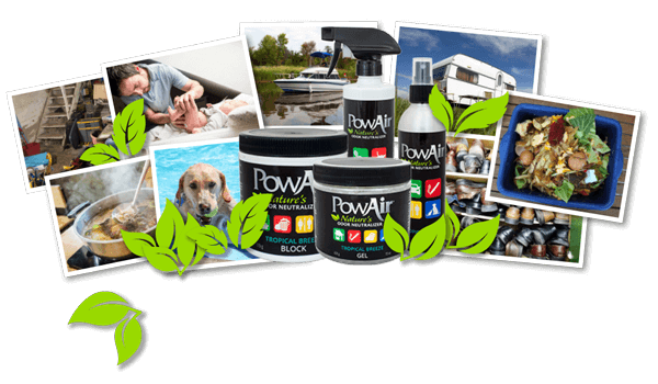 PowAir Geurverwijderaar producten PowAir collage